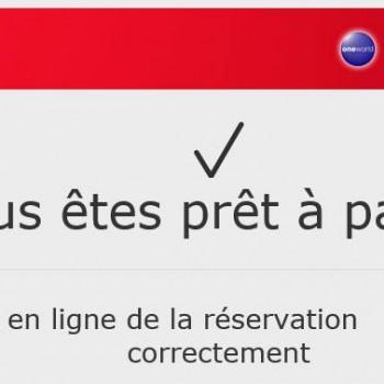 Confirmation des billets pour le Sénégal