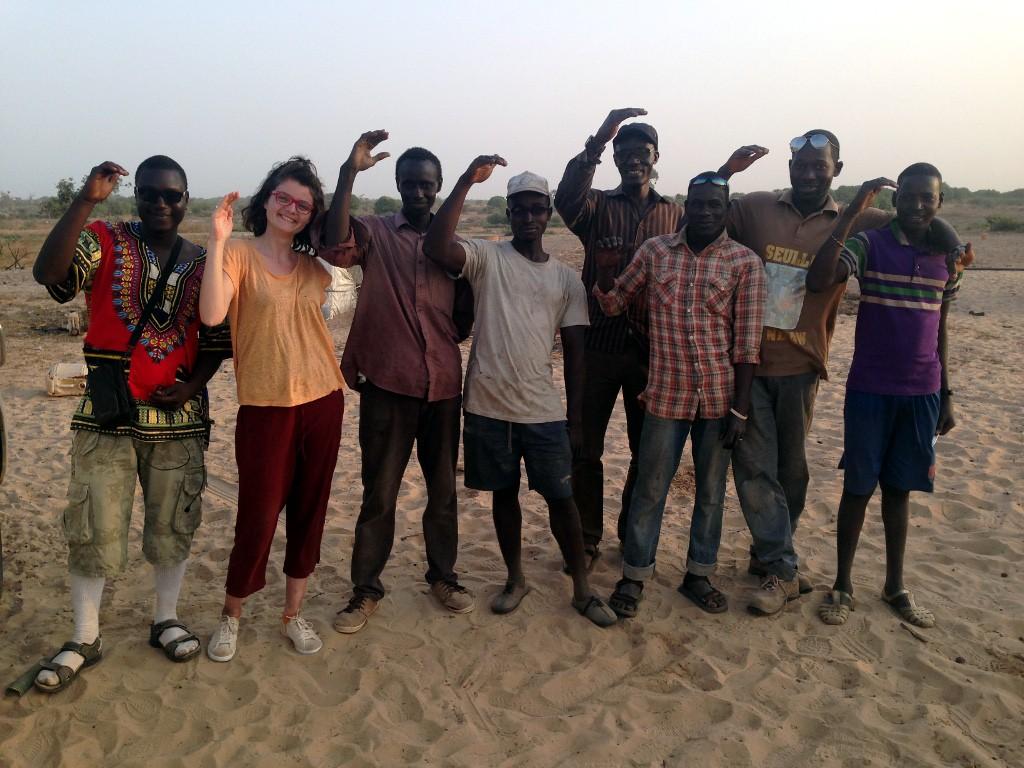 Equipe paysanne au champs, Sénégal