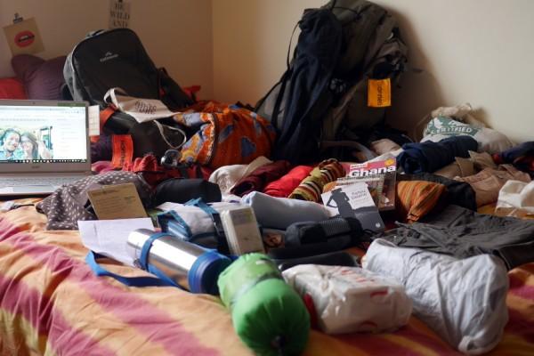 HopTour Africa, préparation des sacs