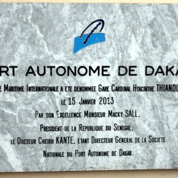Plaque du port de Dakar