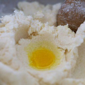 Cake vaisselle, jaune d'oeuf