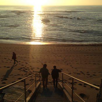 Bord de mer coucher de soleil