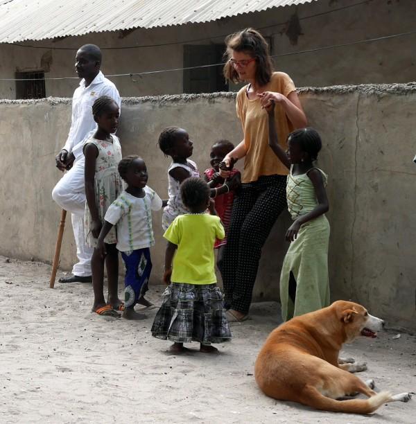 Justine et les enfants