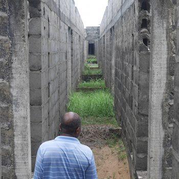 Hotel en construction à Aby, cote d'ivoire