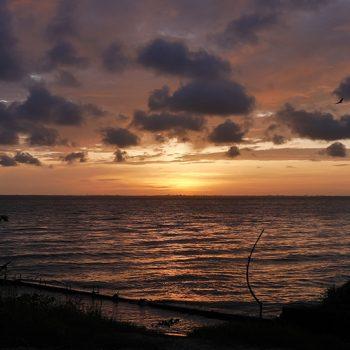 coucher soleil Aby Côte d'Ivoire