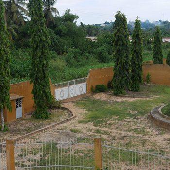 Entrée de l'hôtel construction Aby Côte d'Ivoire