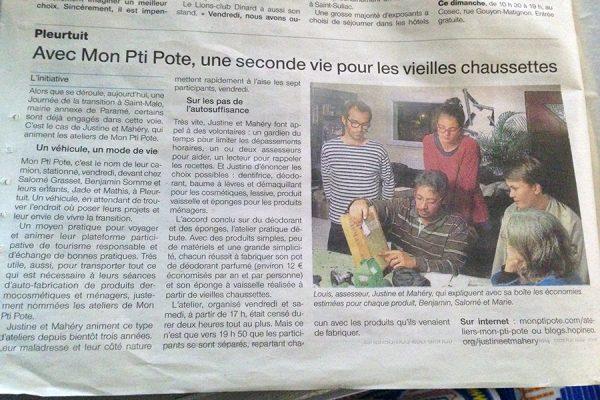 Ouest France parle de Mon Pti Pote en transition